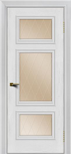 Двери ЛайнДор Афина тон 38 стекло Лондон бронза