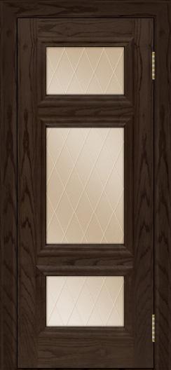 Двери ЛайнДор Афина тон 39 стекло Лондон бронза