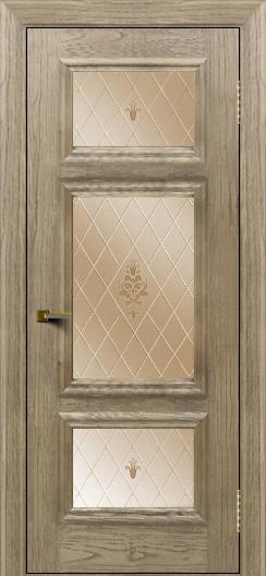 Двери ЛайнДор Афина тон 41 стекло Лилия бронза