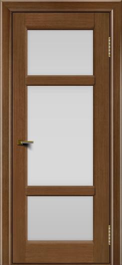 Двери ЛайнДор Афина 2 дуб тон 5 стекло белое полное