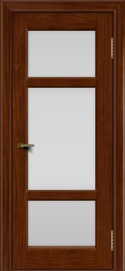 Двери ЛайнДор Афина 2 красное дерево тон 10 стекло белое полное