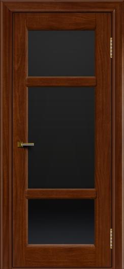 Двери ЛайнДор Афина 2 красное дерево тон 10 стекло черное полное