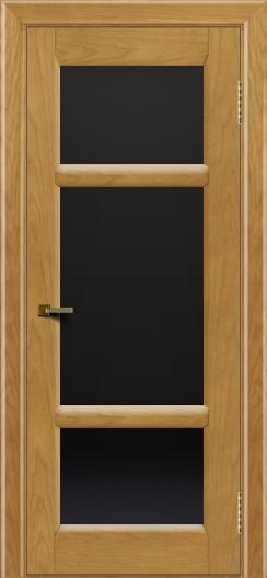 Двери ЛайнДор Афина 2 ясень тон 24 стекло черное полное