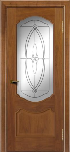 Двери ЛайнДор Богема американский орех тон 23 стекло Белое
