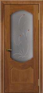 Двери ЛайнДор Богема американский орех тон 23 стекло Ковыль