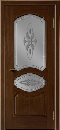 Двери ЛайнДор Богема орех тон 2 стекло Византия
