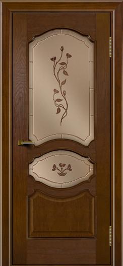 Двери ЛайнДор Богема тон 30 стекло Маки