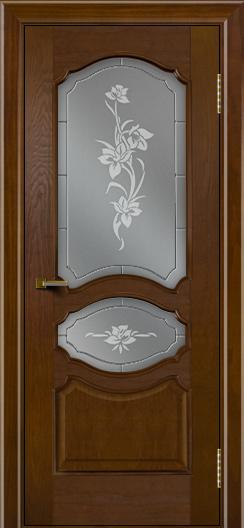 Двери ЛайнДор Богема тон 30 стекло Рим