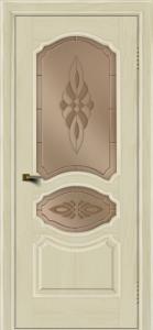 Двери ЛайнДор Богема тон 34 стекло Византия бронза