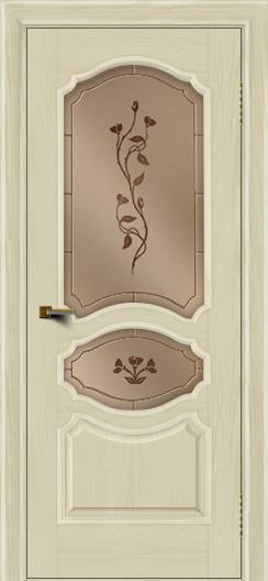 Двери ЛайнДор Богема тон 34 стекло Маки