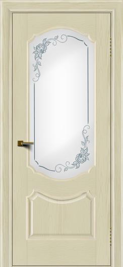 Двери ЛайнДор Богема тон 34 стекло Роза