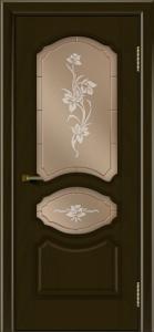 Двери ЛайнДор Богема тон 35 стекло Рим бронза