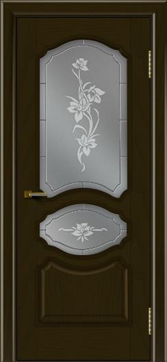 Двери ЛайнДор Богема тон 35 стекло Рим