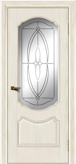 Двери ЛайнДор Богема тон 36 стекло Белое