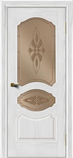 Двери ЛайнДор Богема тон 38 стекло Византия бронза