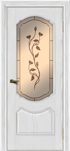 Двери ЛайнДор Богема тон 38 стекло Маки