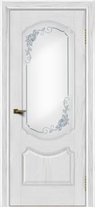 Двери ЛайнДор Богема тон 38 стекло Роза