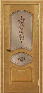 Двери ЛайнДор Богема ясень тон 24 стекло Маки