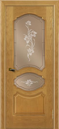 Двери ЛайнДор Богема ясень тон 24 стекло Рим бронза