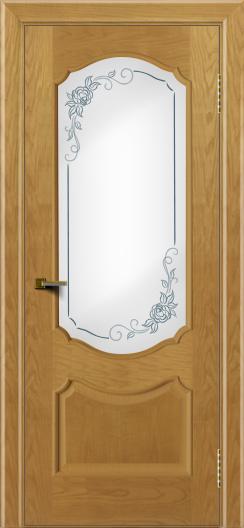 Двери ЛайнДор Богема ясень тон 24 стекло Роза