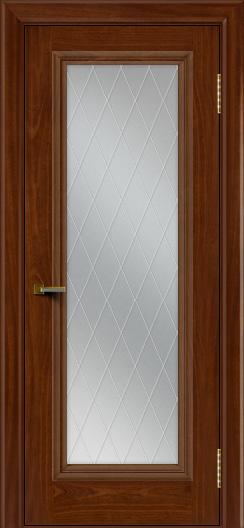Двери ЛайнДор Валенсия красное дерево тон 10 стекло Лондон
