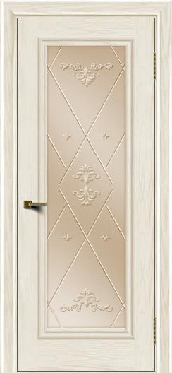 Двери ЛайнДор Валенсия тон 36 стекло Прима бронза