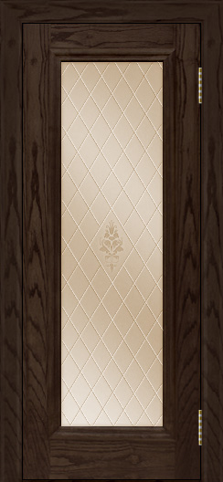 Двери ЛайнДор Валенсия тон 39 стекло Лилия бронза