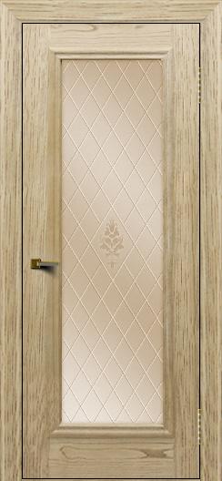 Двери ЛайнДор Валенсия тон 40 стекло Лилия бронза
