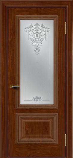 Двери ЛайнДор Виолетта красное дерево тон 10 стекло Версаль