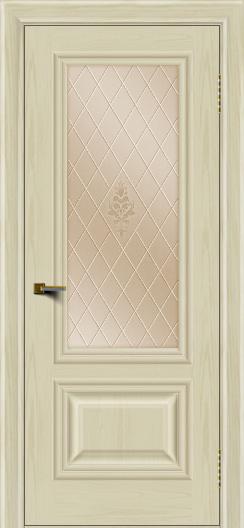Двери ЛайнДор Виолетта тон 34 стекло Лилия бронза