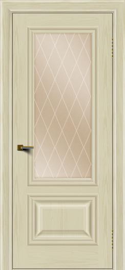 Двери ЛайнДор Виолетта тон 34 стекло Лондон бронза