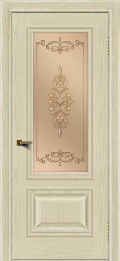 Двери ЛайнДор Виолетта тон 34 стекло Эрика