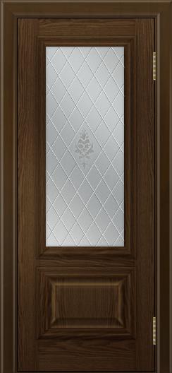 Двери ЛайнДор Виолетта тон 35 стекло Лилия