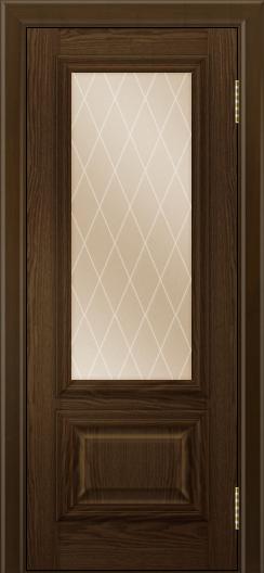 Двери ЛайнДор Виолетта тон 35 стекло Лондон бронза