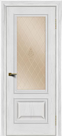 Двери ЛайнДор Виолетта тон 38 стекло Лилия бронза