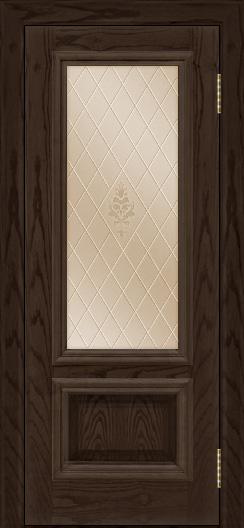 Двери ЛайнДор Виолетта тон 39 стекло Лилия бронза