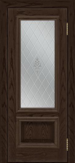 Двери ЛайнДор Виолетта тон 39 стекло Лилия