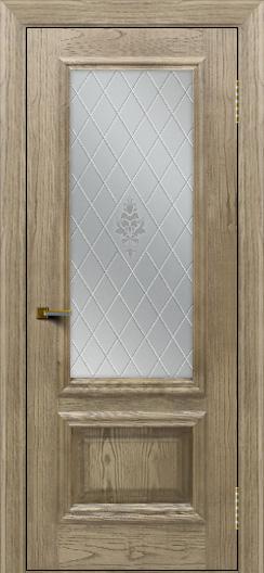 Двери ЛайнДор Виолетта тон 41 стекло Лилия
