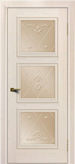 Двери ЛайнДор Грация жемчуг тон 27 стекло Прима бронза