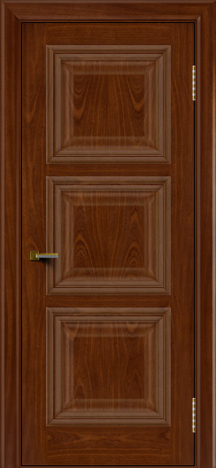 Двери ЛайнДор Грация красное дерево тон 10 глухая