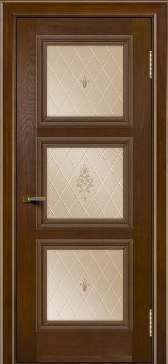 Двери ЛайнДор Грация тон 30 стекло Лилия бронза