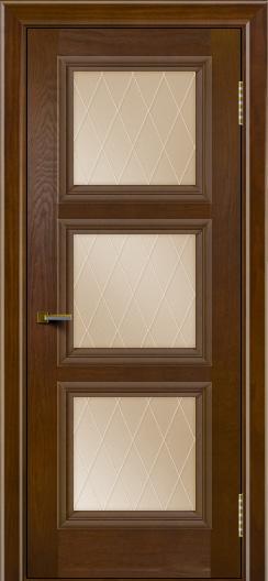 Двери ЛайнДор Грация тон 30 стекло Лондон бронза