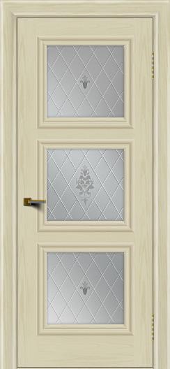 Двери ЛайнДор Грация тон 34 стекло Лилия