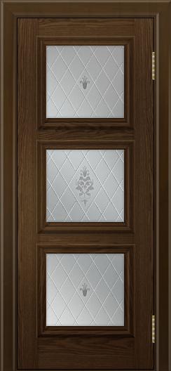 Двери ЛайнДор Грация тон 35 стекло Лилия
