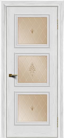 Двери ЛайнДор Грация тон 38 стекло Лилия бронза