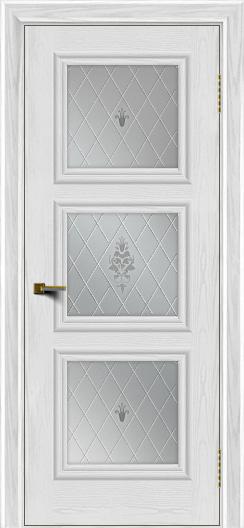 Двери ЛайнДор Грация тон 38 стекло Лилия