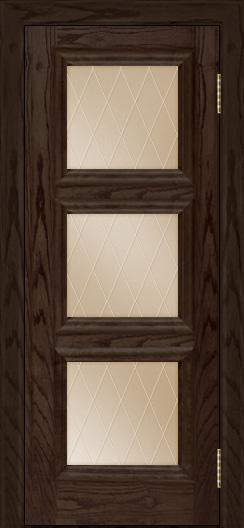 Двери ЛайнДор Грация тон 39 стекло Лондон бронза