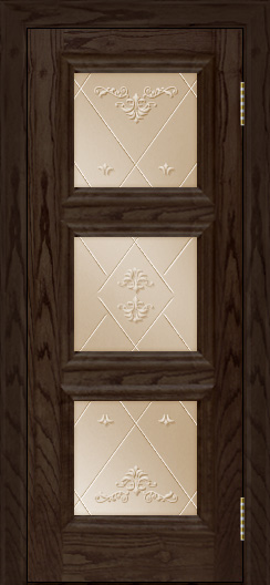 Двери ЛайнДор Грация тон 39 стекло Прима бронза