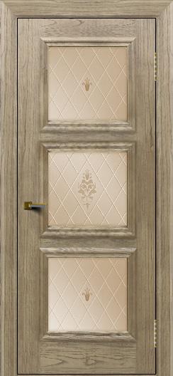 Двери ЛайнДор Грация тон 41 стекло Лилия бронза