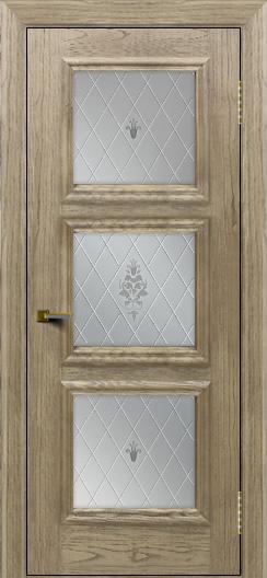 Двери ЛайнДор Грация тон 41 стекло Лилия